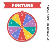 wheel of fortune vector... | Shutterstock .eps vector #529749259