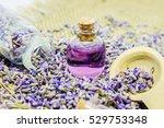 lavender essential oil in a... | Shutterstock . vector #529753348