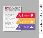vector infographic template ... | Shutterstock .eps vector #529754980
