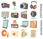 media communications icons set. ... | Shutterstock .eps vector #529755928