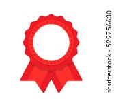 seal ribbon red vector | Shutterstock .eps vector #529756630