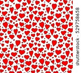 red bright hearts seamless... | Shutterstock .eps vector #529758658