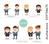 angry boss or manager upset to... | Shutterstock .eps vector #529758670