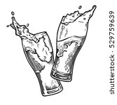 two glasses of beer toasting... | Shutterstock .eps vector #529759639