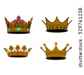 set of colored royal crowns ... | Shutterstock .eps vector #529761238