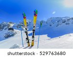 ski winter season   mountains ... | Shutterstock . vector #529763680