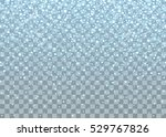 realistic falling snowflakes.... | Shutterstock .eps vector #529767826