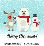 merry christmas  happy... | Shutterstock . vector #529768309