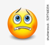 zipped mouth smiley  emoticon ...   Shutterstock .eps vector #529768354