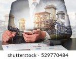 double exposure of businessman... | Shutterstock . vector #529770484