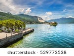 beautiful lake maggiore with... | Shutterstock . vector #529773538