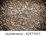 Highly detailed background with oriental ornaments