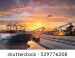 logistics and transportation of ... | Shutterstock . vector #529776208
