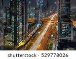 looking down sheik zayed road...   Shutterstock . vector #529778026