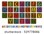 letter blocks. vector... | Shutterstock .eps vector #529778086