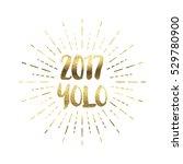gold glitter foil new year... | Shutterstock . vector #529780900