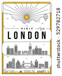 linear travel london poster...   Shutterstock .eps vector #529782718