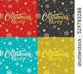 christmas party typography and... | Shutterstock .eps vector #529783288
