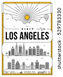 linear travel los angeles... | Shutterstock .eps vector #529783330