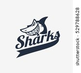 simple shark logo with title....   Shutterstock .eps vector #529788628