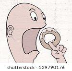 funny eating illustration   Shutterstock . vector #529790176