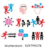 adhd   attention deficit... | Shutterstock .eps vector #529799278