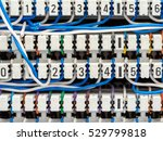 telephone switchboard panel and ... | Shutterstock . vector #529799818