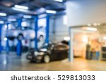 auto repair shop in bokeh ... | Shutterstock . vector #529813033