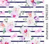 navy blue striped seamless... | Shutterstock .eps vector #529813510