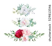 stylish mix of horizontal... | Shutterstock .eps vector #529813546