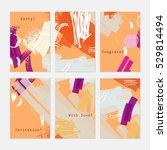 abstract textured strokes...   Shutterstock .eps vector #529814494