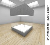 empty glass box in art gallery. ... | Shutterstock . vector #529815094
