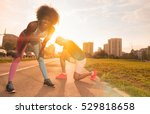 multiethnic group of young... | Shutterstock . vector #529818658