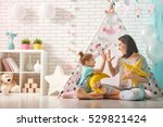 happy loving family. mother and ... | Shutterstock . vector #529821424