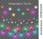 glowing christmas lights.... | Shutterstock .eps vector #529822234