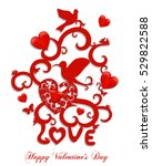 happy valentine's day greeting... | Shutterstock .eps vector #529822588