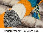 winter hats scarves. | Shutterstock . vector #529825456