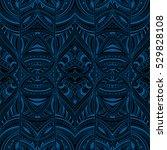 abstract black and blue indigo... | Shutterstock .eps vector #529828108