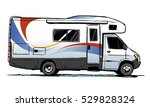 camper van illustration. side... | Shutterstock .eps vector #529828324