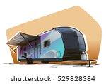 trailer house sketch | Shutterstock .eps vector #529828384