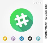 colored icon of grid symbol... | Shutterstock .eps vector #529831180