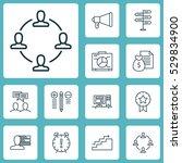 set of 12 project management... | Shutterstock .eps vector #529834900