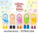 greening card for newborn babies | Shutterstock .eps vector #529841266