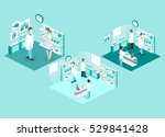 isometric flat 3d concept... | Shutterstock .eps vector #529841428