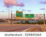road signs for miami beach ... | Shutterstock . vector #529845364