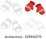 christmas knitted woolen... | Shutterstock .eps vector #529846570