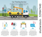 tow truck city road assistance... | Shutterstock .eps vector #529847440
