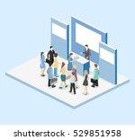 isometric flat 3d concept... | Shutterstock .eps vector #529851958
