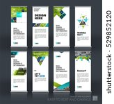 abstract business vector set of ... | Shutterstock .eps vector #529852120