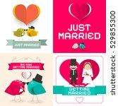 just married. vector wedding... | Shutterstock .eps vector #529855300